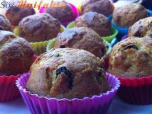 Portakallı üzümlü muffin